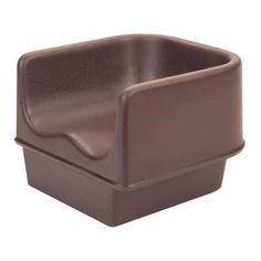 Cambro Brown Booster Seat (11-0222) Category: Booster Seats. Designed to keep toddlers safe and comfortable while seated at a table. Contoured seat, high sides, wide square base, and non-skid surface. Durable polyethylene will never dent, chip, rust, or break. Single seat. STRAP NOT INCLUDED.