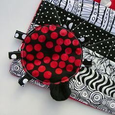Ladybug Applique with Legs and Head by Toni Swedberg, via Flickr