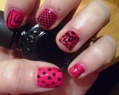 wild thing nail art #nails #nailart #nailpolish #konad #manicure