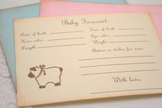 Baby Forecast Guessing Baby Shower Game Activity Cards Fill in the Blanks Vintage Lamb Pink, Blue, or Ivory Baby Pool, Baby Shower Wishes, Wishes For Baby, Pool Shower, Shower Party, Baby Games, Baby Shower Games, Baby Prediction
