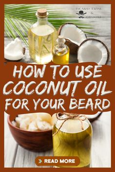 Find out how you should use coconut oil for a healthy beard. Here you can discover the benefits and uses of coconut oil for your beard. Read more about coconut oil properties at beardtrimandgroom.com. #beardgrowth #coconutoil #beardgrooming Natural Beard Growth, Beard Growth Tips, Beard Tips, Coconut Oil For Beard, Best Beard Care Products, Diy Beard Oil, Growing Facial Hair, Patchy Beard, Beard Wash