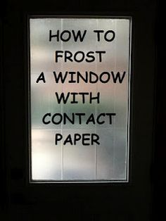 Frost windows with transparent contact paper - can I do this in my classroom?!?!?