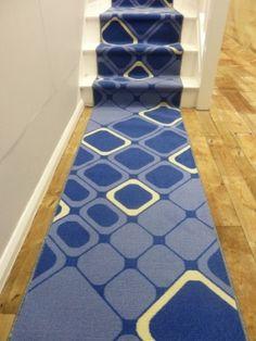 Diamond - Blue stair runner!