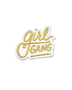 Support your local girl gang—this little identifier patch is perfect for you and your crew.  Embroidered type design on twill Iron-on backing Measurements: 1.5""