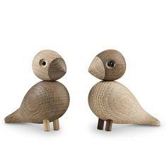 """#kaybojesen of #denmark has produced these #gorgeous #lovebirds in #wood.  A must for fans of #danishdesign"""