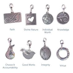 Individual Value LDS Charms  This Mormon pin is loved at www.MormonLink.com