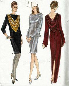 Vintage Vogue 9154 UNCUT Misses Sheath Evening or Cocktail