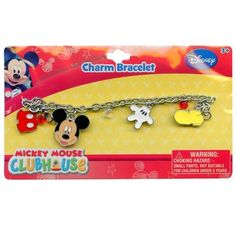 Mickey Charm Bracelet with metal charms and jelly faceted beads >>> You can get additional details at the image link. (This is an affiliate link) #BraceletsDressUpToys
