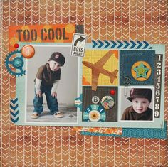 Too Cool Layout from All About a Boy Collection. #echoparkpaper