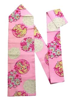 This is a vintage Nagoya obi with seasonal flower circle design, which is dyed