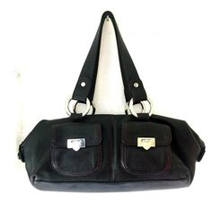 db55a0f96915 Lovcat Bag Black Leather Pebble Handbag Purse Bowler Top Zip Dual Handle   Lovcat  ShoulderBag