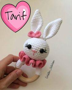 No photo description available. Crochet Baby Toys, Crochet Amigurumi, Crochet Bunny, Crochet For Kids, Amigurumi Doll, Amigurumi Patterns, Crochet Dolls, Baby Knitting, Crochet Animal Patterns