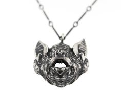 Oceans of Time: Vampire Bat Head Necklace – Blood Milk Jewels