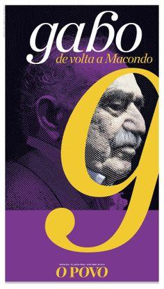 Gabo - Gabriel García Márquez (special edition - O POVO newspaper). Art + design: Gil Dicelli