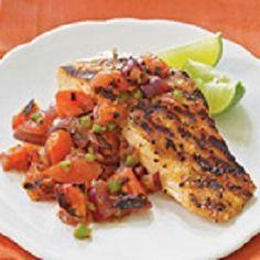Salmon with Tomato Salsa