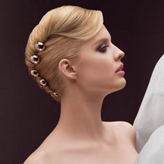 French Twist With Stones! #Ballroom #Hair