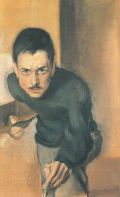 Einar Ilmoni (Finnish, 1880-1946), Self-portrait, 1909. Oil on...