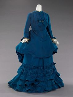 Day dress by Worth, 1872