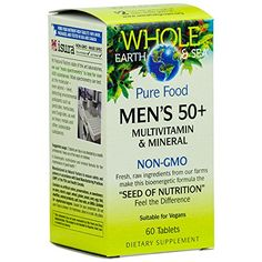 Whole Earth  Sea  Mens 50 Multivitamin  Mineral Raw Whole Food Nutrition 60 Tablets -- Check out this great product. (It is an affiliate link and I receive commission through sales)