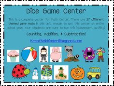 dice game for math