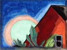 Oscar Bluemner (1867-1938) Endormi (1927) aquarelle sur papier 24,1 x 32,4 cm