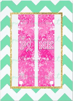 Pink Breast Cancer Sublimation Cheer Bow Strips Download by PuttaBowOnIt on Etsy