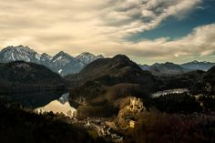 Schloss Hohenschwangau, the childhood residence of King Ludwig II of Bavaria as seen from Neuschwanstein Castle - Photography by Dragan Todorović Neuschwanstein Castle, Baltic Sea, Landscape Pictures, Bavaria, Finland, Denmark, Mount Everest, Germany, Childhood