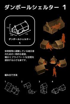 Atelier OPA » ダンボールシェルター2012クロスウォールシステムを発表、Cardboard shelter 3 and Crosswall System