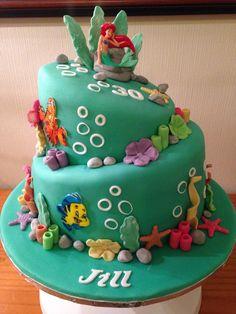 Ariel themed cake