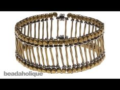 ▶ How to Bead Weave a Metal Bead Bracelet using Modified Ladder Stitch