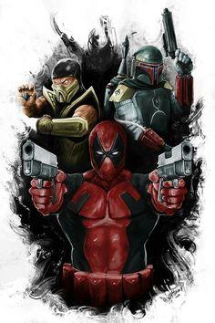 #Deadpool #Fan #Art. (Marvel star wars mashup) By: Jennifer Tomlin. (THE * 5 * STÅR * ÅWARD * OF: * AW YEAH, IT'S MAJOR ÅWESOMENESS!!!™) [THANK U 4 PINNING!!!<·><]<©>ÅÅÅ+(OB4E)