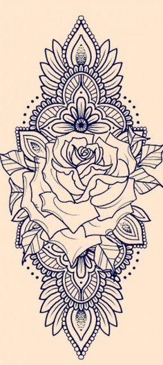 Zadi henna thigh tattoo, henna tattoo sleeve, back of thigh tattoo, rose tattoo Henna Tattoo Sleeve, Dotwork Tattoo Mandala, Mandala Rose Tattoo, Tattoo Arm, Tattoo Flowers, Tattoo Roses, Mandala Sleeve, Henna Thigh Tattoo, Arm Tattoo Ideas
