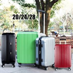 3PCS Luggage Travel Set Trolley Bag Hard Shell Diamond Suitcase With Lock ABS PC #Focheir