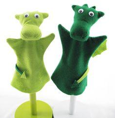Hand Puppet for Children Cute Felt Dragon Puppet pet - puppet pet. £10.00, via Etsy.