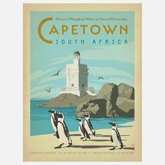 World Travel Cape Town Print