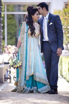 Seriously love this lengha. White Wedding Dresses, Wedding Dress Styles, Wedding Attire, Bridal Dresses, Indian Bridal Lehenga, Pakistani Bridal Wear, Bollywood Wedding, Desi Wedding, Indiana