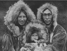 """The Inuit are a group of culturally similar indigenous peoples inhabiting the Arctic regions of Canada (Northwest Territories, Nunatsiavut, Nunavik, Nunavut, Nunatukavut), Denmark (Greenland), Russia (Siberia) and the United States (Alaska).[2] Inuit means """"the people"""" in the Inuktitut language. An Inuk is singular for Inuit person, whereas Inuit is plural. The Inuit language is grouped under Eskimo–Aleut languages"""