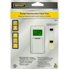 Defiant 20-Amp 7-Day 7-Event In-Wall Digital Timer-49814 - The Home Depot