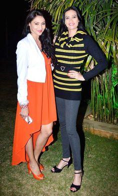 Rishina Kandhari and Jasveer Kaur at the launch of the GR8 Calendar 2014. #Style #Bollywood #Fashion #Beauty