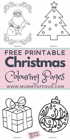 Christmas Colouring Pages To Download For Free Magical Christmas, Family Christmas, All Things Christmas, Christmas Ideas, Merry Christmas, Printable Christmas Coloring Pages, Christmas Printables, Christmas Crafts For Toddlers, Toddler Crafts