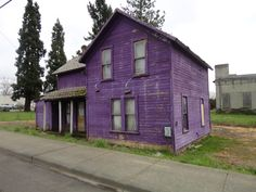 How often do you see a purple house?
