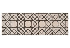 "One Kings Lane - Runners for Every Room - 2'6"" x 8' Trapman Rug, Iron Ore/Ivory"