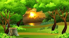 Beautiful Animation with Nature Tree Scenery, Background Video - 745 3d Nature Wallpaper, Desktop Background Nature, Free Wallpaper Backgrounds, Beautiful Landscape Wallpaper, Background Hd Wallpaper, Picsart Background, Animation Background, Green Screen Background Images, Green Screen Video Backgrounds
