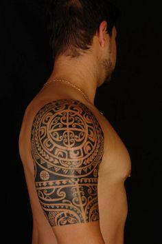 polynesian-half-sleeve-tattoo-04132013-16.jpg (400×600)