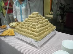Rice Krispy pyramid... could represent the palace/Egypt or could represent the haystacks Joseph dreamed of.