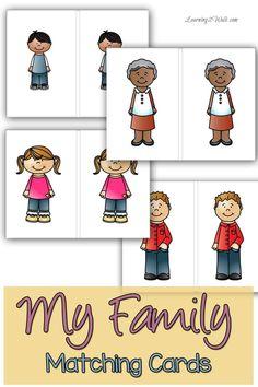 Preschool Family Theme, Preschool Themes, Preschool Printables, Preschool Lessons, Family Activities, Preschool Activities, Counting Activities, Letter Worksheets For Preschool, Preschool Letters