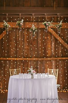 Simple but elegante: A sweetheart table is the main place at your wedding reception and it should excite and highlight your style and theme. Make an accent on your sweetheart table with a sequin tablecloth, lots of flowers and rhinestones. Fall Wedding, Rustic Wedding, Our Wedding, Dream Wedding, Wedding Vows, Trendy Wedding, Wedding Venues, Wedding Rings, Wedding Ideas