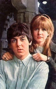 "1965 - Photo taken of Paul McCartney and Jane Asher while Paul was filming the Beatles' movie, ""HELP!""."