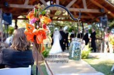 Ceremony Decor, Shepherd's Hooks & Mason Jars