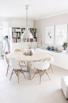 Well design modern dining room design ideas 00027 ~ Home Decoration Inspiration Esstisch Design, Dinner Room, Ikea Dinner Table, Ikea Round Dining Table, Dinning Table, Dining Room Inspiration, Furniture Inspiration, Dining Room Design, Dining Rooms